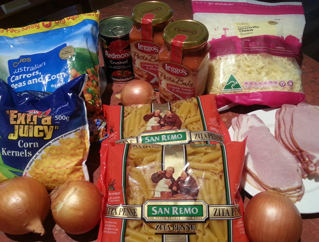 Pasta Bake Ingredients